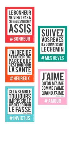 5 stickers sur la #motivation #bonheur #rêves