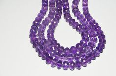 611mm 15 line AAA Amethyst faceted beads by ShangrilaGems on Etsy, £79.00