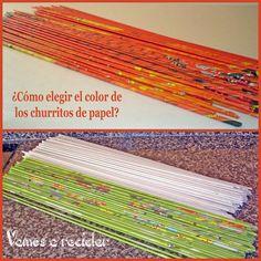 ¿Cómo elegir el color de los churritos de papel?