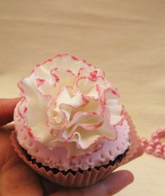carnation cupcake toppers