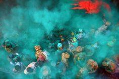Holi by Nitesh Chakravarti, via Behance