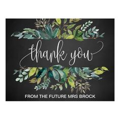 Shop Chalkboard Foliage Thank You Postcard created by FreshAndYummy. Personalize it with photos & text or purchase as is! Birthday Chalkboard, Chalkboard Wedding, Chalkboard Designs, Chalkboard Art, Rustic Birthday Parties, Birthday Ideas, Birthday Postcards, Thank You Postcards, Chalkboard Background