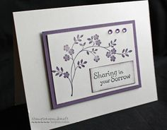 CASEd CAS Sympathy by luvtostampstampstamp - Cards and Paper Crafts at Splitcoaststampers