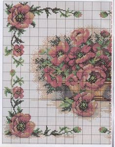 This Pin was discovered by Ska Cross Stitch Boarders, Just Cross Stitch, Cross Stitch Alphabet, Cross Stitch Flowers, Cross Stitching, Cross Stitch Patterns, Rose Embroidery, Cross Stitch Embroidery, Crochet Borders