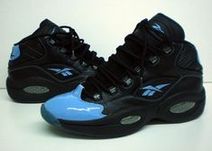 1d55c822a35 Reebok Question Black Light Blue Exclusive Shoes