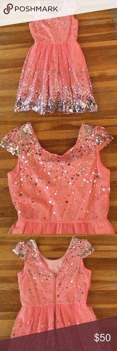 Pink Prom/HoCo Dress Only worn once for my senior year homecoming dance! Absolutely gorgeous dress & very flattering! It's in VERY good shape - not missing any sequins and no other blemishes! As U Wish Dresses