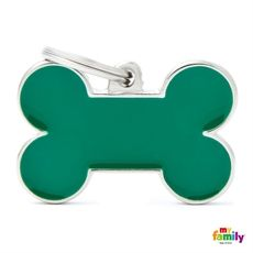 Show details for Big Bone Green Pet ID Tag Free engraving www.myfamily.it
