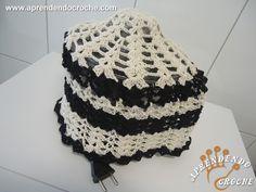 Capa de Crochê p/ Espremedor 1250ml - Receita de Croche com o Passo a Passo no Link http://www.aprendendocroche.com/receitas-de-croche/video-aula.asp?resid=1191&tree=10