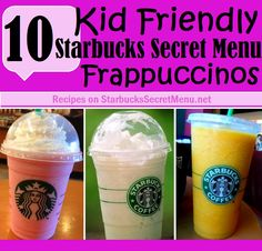 These kid friendly Frappuccinos are all crème based which means you won't have to worry about caffeine induced hyper-activeness.