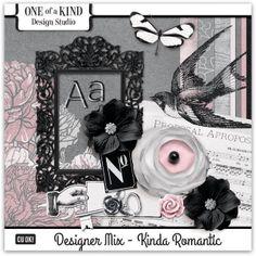 Designer Mix - Kinda Romantic | CU/Commercial Use #digital #scrapbook design tools at CUDigitals.com #digitalscrapbooking