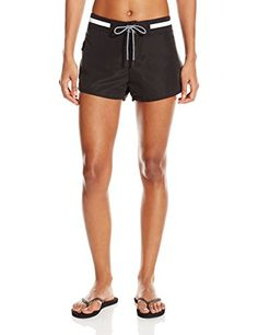 Cole of California Womens Super Solids Microfiber Boardshort Black Wh Medium >>> You can get more details by clicking on the image.(This is an Amazon affiliate link and I receive a commission for the sales)
