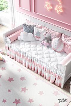Baby Bedroom, Nursery Bedding, Girls Bedroom, Baby Crib Sets, Baby Cribs, Baby Elephant Nursery, Shabby Chic Bedrooms, Playroom Decor, Room Interior