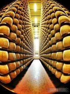 Parmigiano Reggiano consortium in Parama, Italy.