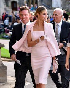 La chanteuse Holly Valance au mariage d'Eugénie d'York, au château de Windsor, le 12 octobre 2018