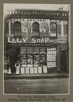 Early Brunswick grocery store, Victoria.  Brunswick: Formerly Marriage Bros - Sydney Road, West side, near Phoenix St.