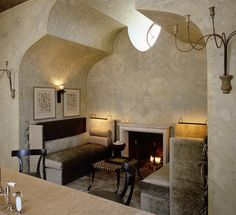 cozy fireside nook off kitchen / mcalpine tankersly