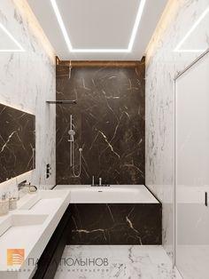 Фото ванная комната из проекта «Дизайн квартиры 123 кв.м. в ЖК «Duderhof Club» в стиле Хай-тек» Bathroom Design Luxury, Bathroom Tile Designs, Modern Bathroom Design, White Marble Bathrooms, Small Bathroom With Shower, Home Room Design, Bedroom False Ceiling Design, Modern Shower, Bathroom Toilets