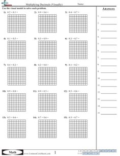 free blank decimal grids for tenths hundreths thousandths on this site math math lessons. Black Bedroom Furniture Sets. Home Design Ideas