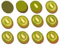 Kiwi -step by step by ryky on deviantART http://ryky.deviantart.com/art/Kiwi-step-by-step-443338461