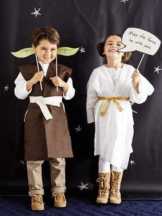 Star Wars photo booth props - like the robes....seems simple