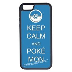 CellPowerCasesTM Keep Calm Pokemon iPhone 6 (4.7) Protective V1 Black... ($13) ❤ liked on Polyvore featuring accessories, tech accessories i black