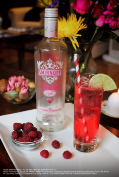 Pomegranate Berry Punch Drink Recipe: 1.5 oz SMIRNOFF SORBET™ Light Raspberry Pomegranate, 2 oz diet ginger ale, 3 oz cranberry juice. Combine ingredients in an ice-filled mixing glass. Stir and pour into a rocks glass. Garnish with a lemon or lime wedge