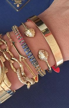 Get inspired with this gorgeous arm party! #Stelladotstyle #AutismAwarenessMonth