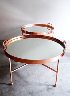 Copper + Mirror Casa Midy tray table. #interiordesign #furniture