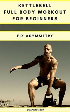 Kettlebell full body workout for beginners. Fix your asymmetries with unilateral exercises. Also, this is a great training to build muscle and lose weight.