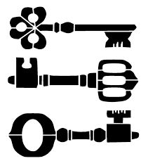 vintage keys stencil 3 craft,fabric,glass,furniture,wall art up to Letter Stencils, Stencil Templates, Stencil Patterns, Stencil Art, Stencil Designs, Craft Patterns, Woodcut Art, Vintage Keys, Silhouette Cameo Projects