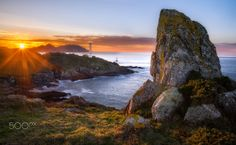 Cape Home sunset - sunset at cape Home, Galicia (Spain)