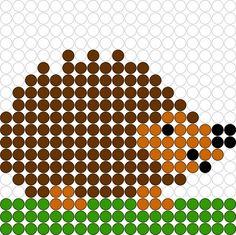 Hedgehog hama perler beads pattern