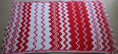 Candy Cane granny ripple throw by Sandy of Teacup Lane #crochet #afghan #blanket #stripe