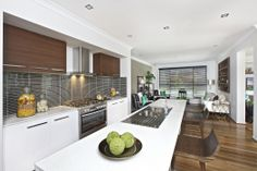 Clarendon Homes.  The Sheridan Series.  Two toned kitchen cabinetry.