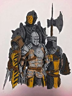For honor knights Fantasy Character Design, Character Concept, Character Art, Armadura Medieval, Fantasy Armor, Medieval Fantasy, Armor Concept, Concept Art, Fantasy Inspiration