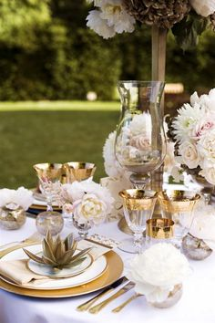decorating a wedding gold table settings on weddings centerpieces 3356
