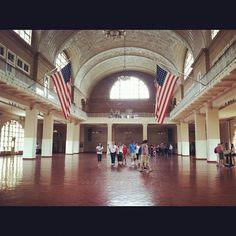 Ellis Island - porte d'entrée aux Etats-Unis pour des millions d'immigrants - classé sur la liste du patrimoine mondiale de l'uniesco - lieu le plus fréquenté de la ville