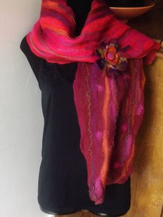 Mouthwatering Colourful 100 Merino Wool Scarf Cowl Or by OkieFolky, £27.80