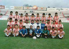 Deportes La Serena 1987 (camiseta albirroja del ascenso de ese año)