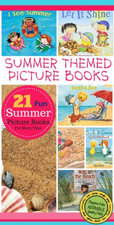Top Picks Are In ~ 21 Summer Themed Picture Books for Little Learners Summer is one of the best seasons of the year and preschoolers love it! Share the summer with them reading through these adorable. Best Children Books, Books For Teens, Read Aloud Books, Children's Books, Library Activities, Learning Activities, Teaching Ideas, Felt Stories, Summer Books