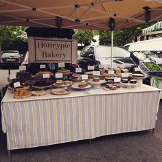 My stall at London farmers market Twickenham London