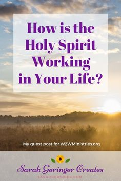 How is the Holy Spirit working in your life? Every day, I'm eager to watch how he will weave details together to show me his will. Women Of Faith, Faith In God, Spiritual Warfare, Spiritual Growth, Christian Faith, Christian Women, Christian Friends, Christian Living, Hope In Jesus