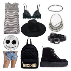 """Punk summer"" by draegan on Polyvore featuring Tobi, 'S MaxMara, Boohoo, Forever 21, Madewell, T.U.K. and Moschino"
