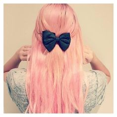 How to get pastel pink hair ! ❤ liked on Polyvore featuring accessories, hair accessories and pink hair accessories