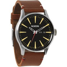 Sentry Leather Watch (Men's) #NixonWatches&Gear at RockCreek.com