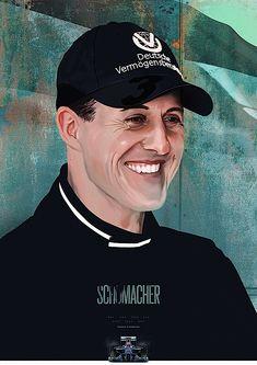 Schumacher digital painting by Piotr Buczkowski