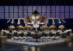 Impressive photo of the F-35 Lightning II with all its weaponry lined up