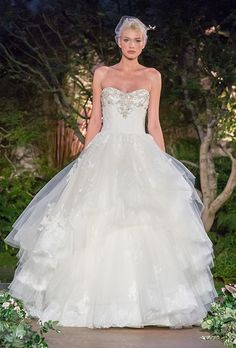 Brides: Enzoani Wedding Dresses - Spring 2016 - Bridal Runway Shows - Brides.com