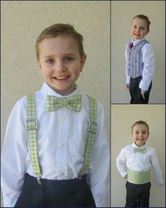 Create Kids Couture now has William's Formal Accessory Pack for boys! This pdf sewing pattern pack comes with directions to make adjustable cross-back suspenders, a reversible 4-button vest, and even an adjustable cummerbund in sizes 6 mo- 8!