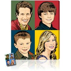 Warhol Family Portraits. Starting at $135.00 #family #popart #portraits #gifts